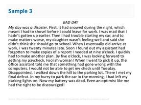 Bad Day Essay Narrative Paragraph