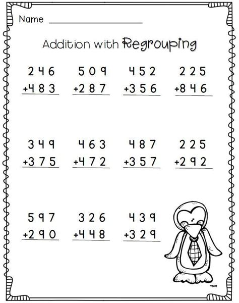 diagram addition 3rd grade addition with regrouping 2nd grade math worksheets free education math
