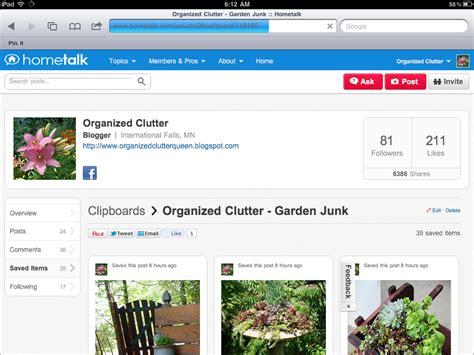 Links To Stalk 9 by My New Hometalk Clipboard Garden Junk Organized Clutter