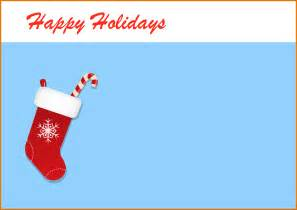 holiday templates happy holidays greeting card template
