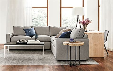york sectional room and board york three piece sectional living room modern living