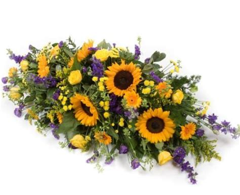Sprei Sun Flower the sunflower casket spray fleur floristry