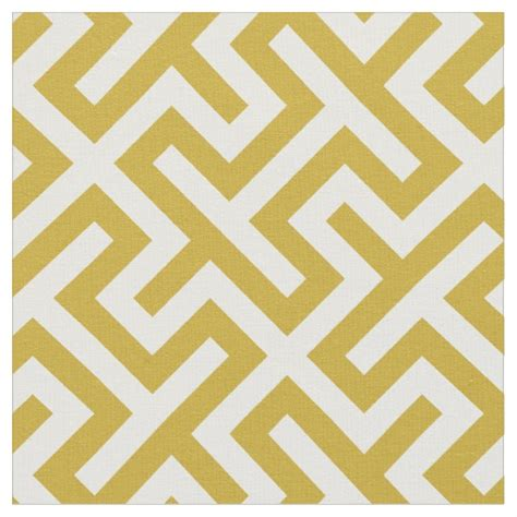 geometric pattern material chic gold and white abstract geometric pattern fabric zazzle