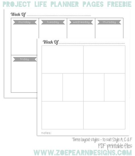 project life printable planner preparing for project life have a plan planner reviews