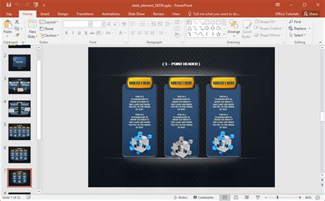 Animated Sleek Design Powerpoint Template Sleek Powerpoint Templates