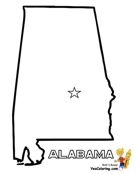 alabama state colors print out state map diagram for alabama at yescoloring
