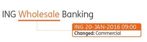 ing bank name ing commercial banking renamed ing wholesale banking ing