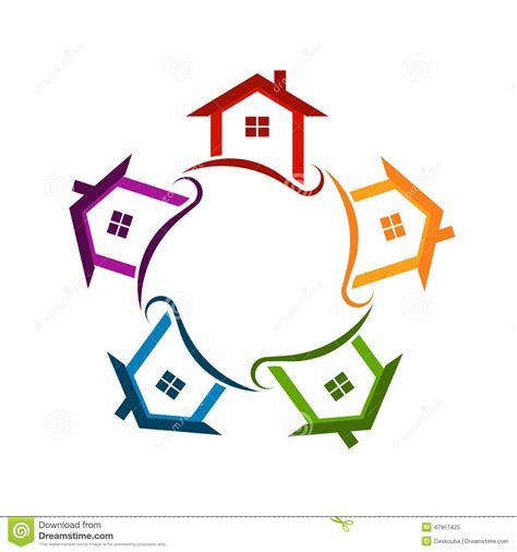Foto Communitys Kostenlos by Community Neighborhood Houses Logo Stock Image Image Of