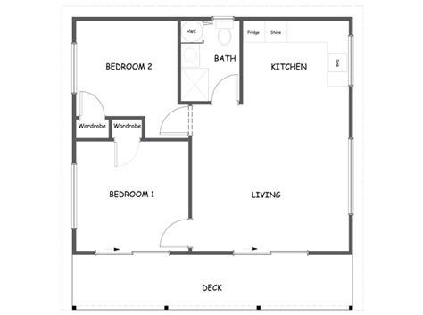 50m2 house design 50m2 two bedroom plus deck mount timber homes