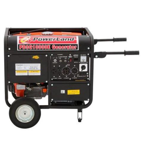 powerland 10 000 watt 1 tri fuel powered electric start
