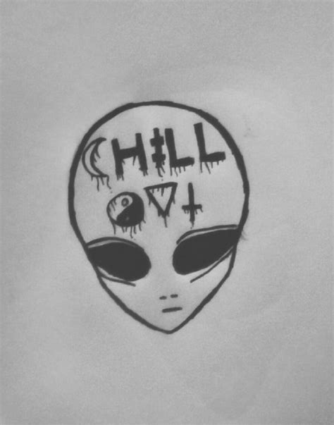 chill out graffiti wallpaper alien chill out tumblr