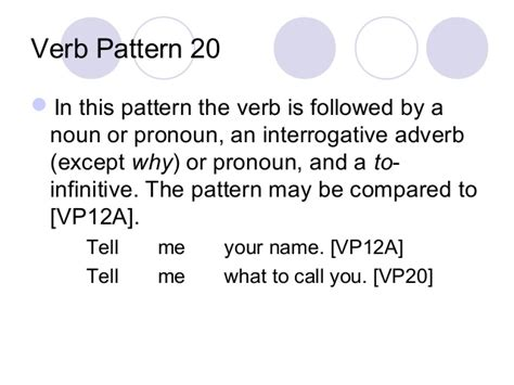 pattern verbs remember verb patterns
