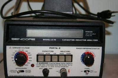 sencore capacitor inductor analyzer sencore lc76 capacitor inductor analyzer porta z