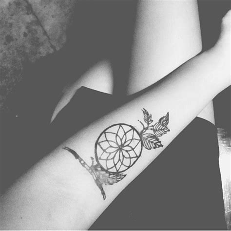 dreamcatcher small tattoo 38 small dreamcatcher placement ideas