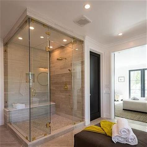 Subway Tile Bathroom Floor Ideas corner shower design ideas