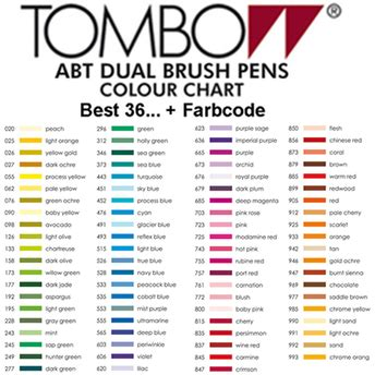 tombow color chart tombow abt dual brush pen 2 99