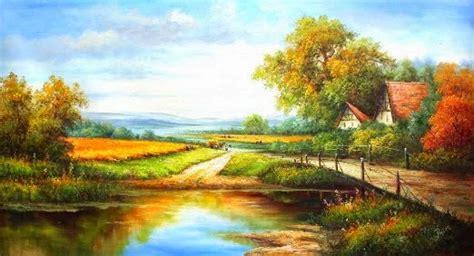 Lukisan Foto Gambar contoh gambar lukisan pemandangan belajar bersama jesica