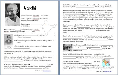 biography gandhi ks2 free grammar worksheets homophones words that sound the
