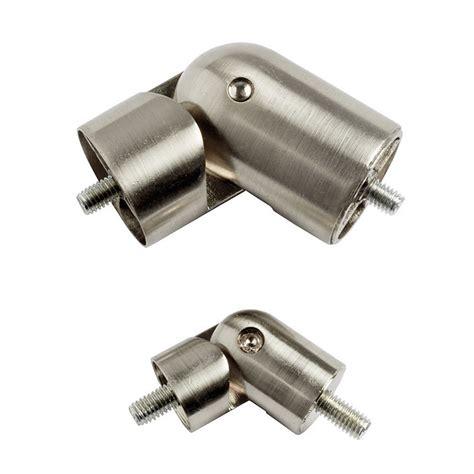 corner drapery hardware single rod drapery hardware polished nickel ballard