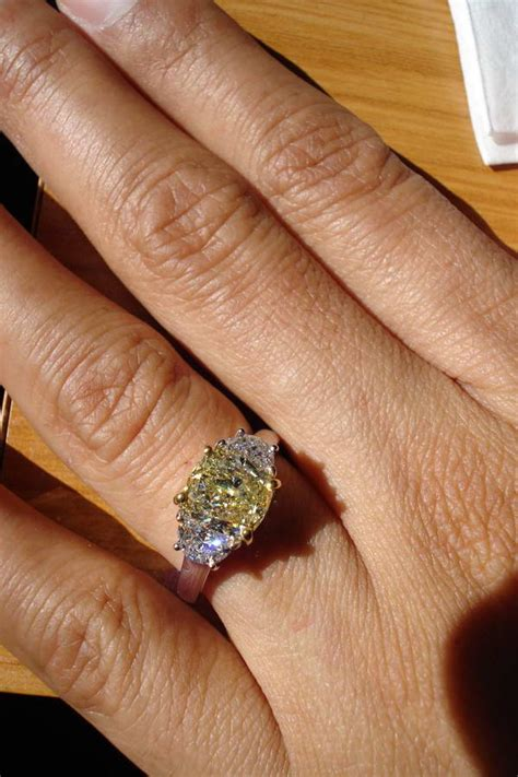 Fancy colored diamond rings  Yellow diamond engagement