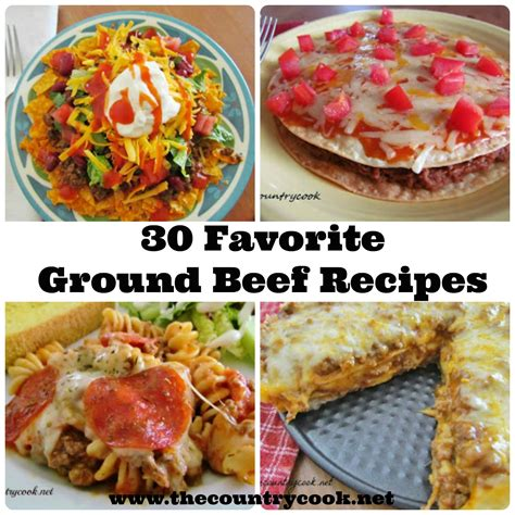dinner ideas for hamburger meat 30 favorite ground beef recipes the country cook