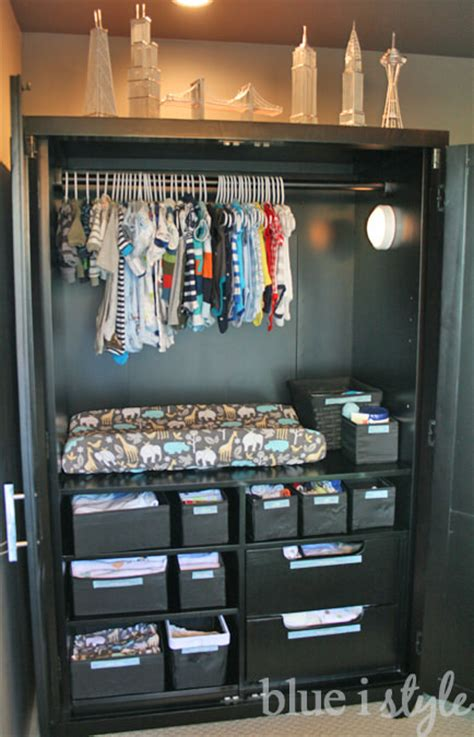 changing table armoire diy nursery projects the budget decorator