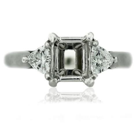 platinum trillion cut engagement ring mounting