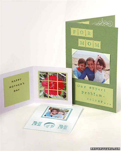 handmade mothers day card projects martha stewart