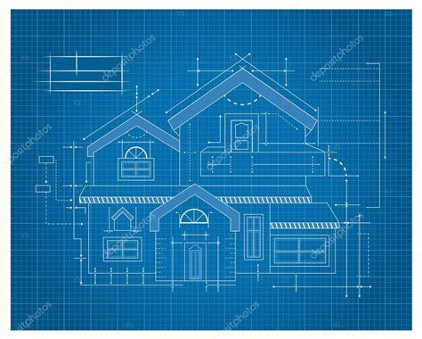 how to make a blueprint of a house wooden house blueprint stock vector 169 tantoon 32897387