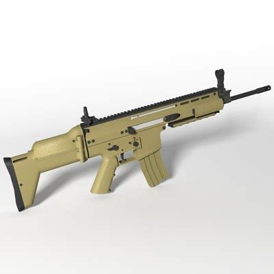 3ds fn scar l assault rifle