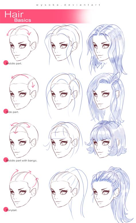 step by step hairstyles to draw how to draw hair 2 by wysoka on deviantart
