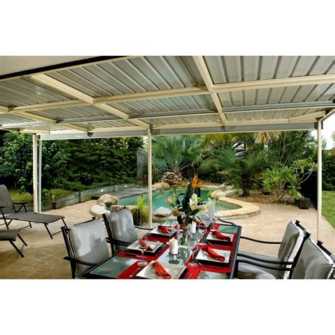 Absco Sheds 6 x 3 x 3m Awning Patio Cover   Pale Eucalypt