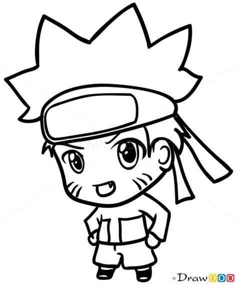 how to draw naruto anime chibi easy draw