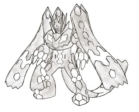 pokemon coloring pages zygarde zygarde perfect forme by xxd17 on deviantart