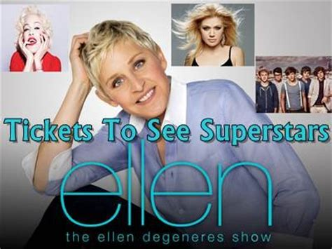Ellen Degeneres Sweepstakes - www ellentv com giveaways win a pair of tickets to see madonna one direction