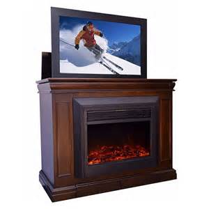 Electric Fireplace Screen Touchstone Conestoga Tv Lift And Electric Fireplace For 24