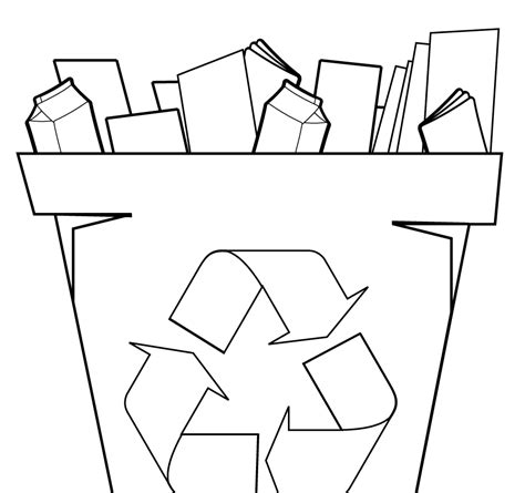 recycle coloring pages preschool free recycle symbol coloring page printable kids sign