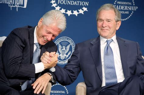 Bush Vs Clinton by We Get It Bill Clinton And George W Bush You Re Friends