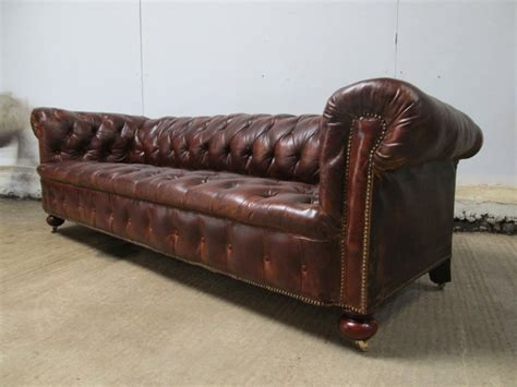 leather victorian sofa antique antique large victorian brown leather chesterfield