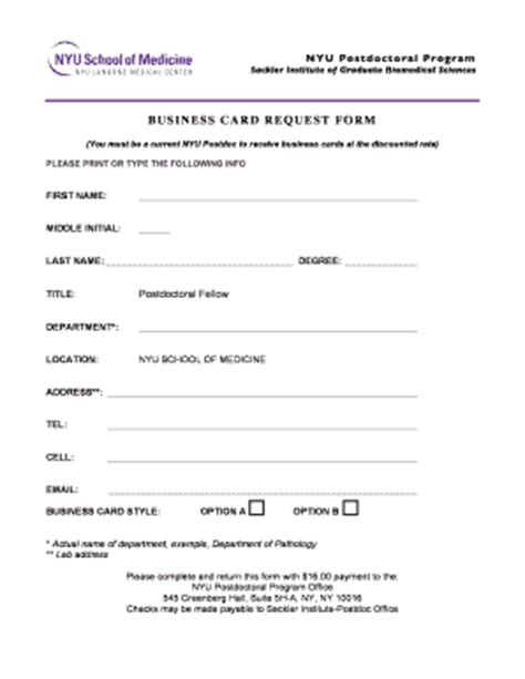 business card order form template business card request form images business card template