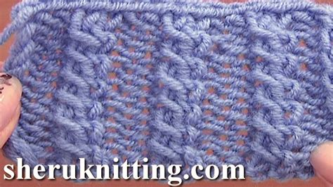 cable pattern knit youtube front cross cable stitch pattern knitting tutorial 11 easy