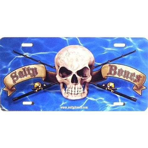 regulator boats license plate divers discount florida marine sports salty bones