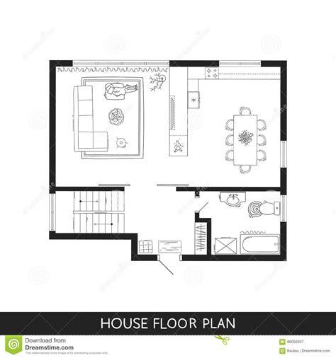simple furniture floor plan set2 stock vector art more house floor plan free vector