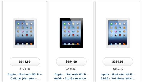 ipads at best buy best buy puts 3 on clearance for as low as 314 as