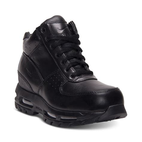 nike air boots nike air max goadome boots in black for lyst