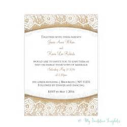 lace template burlap and lace wedding invitations template