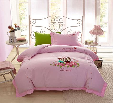 Mickey Minnie Mouse Bedding Sets Girls Bedspreads Bed Minnie And Mickey Mouse Bed Set