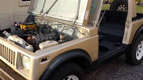 1985 suzuki sj410 with honda cbr600rr exhaust cold start and revs youtube