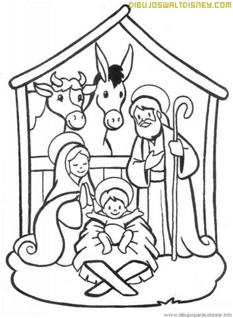 dibujos navideños para colorear portal belen portal de bel 233 n para pintar