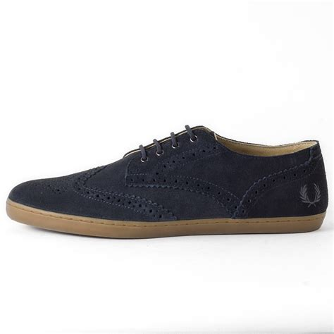 navy shoe fred perry ealing mens suede navy shoes ebay